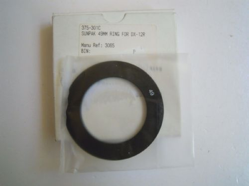 SUNPAK 49MM RING FOR DX-12R 3065